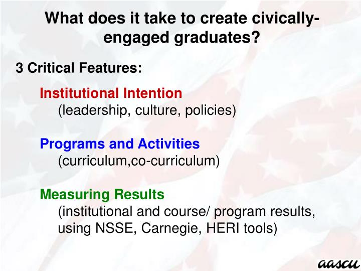 What does it take to create civically-engaged graduates?