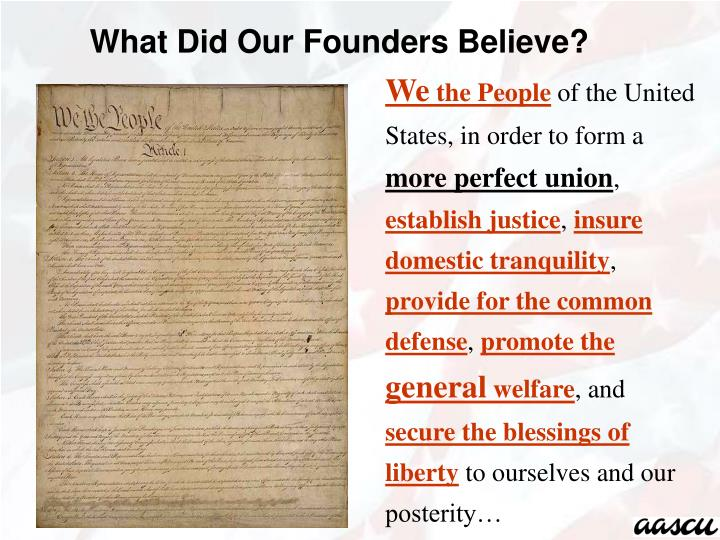 What Did Our Founders Believe?