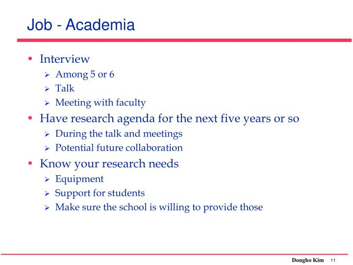 Job - Academia