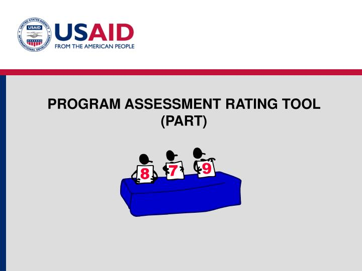 PROGRAM ASSESSMENT RATING TOOL  (PART)