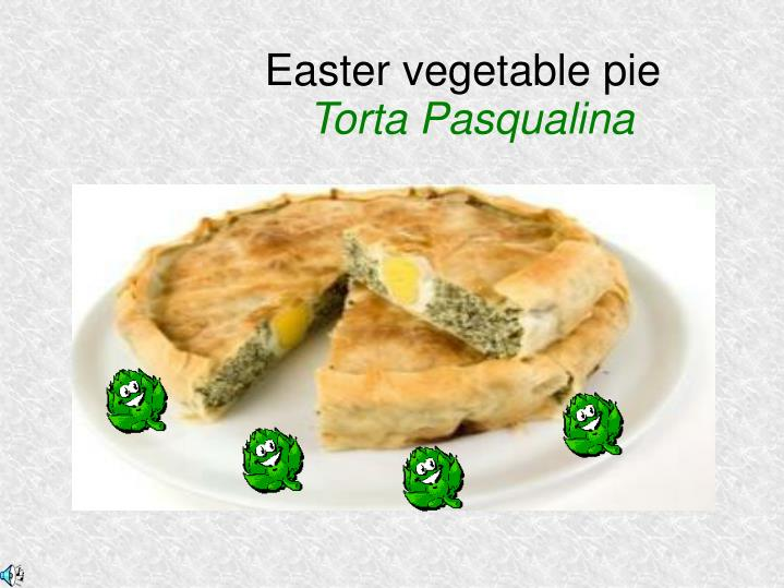 Easter vegetable pie torta pasqualina