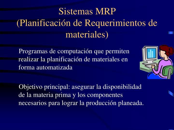 Sistemas MRP