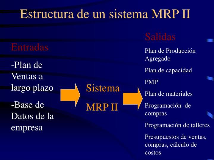 Estructura de un sistema MRP II