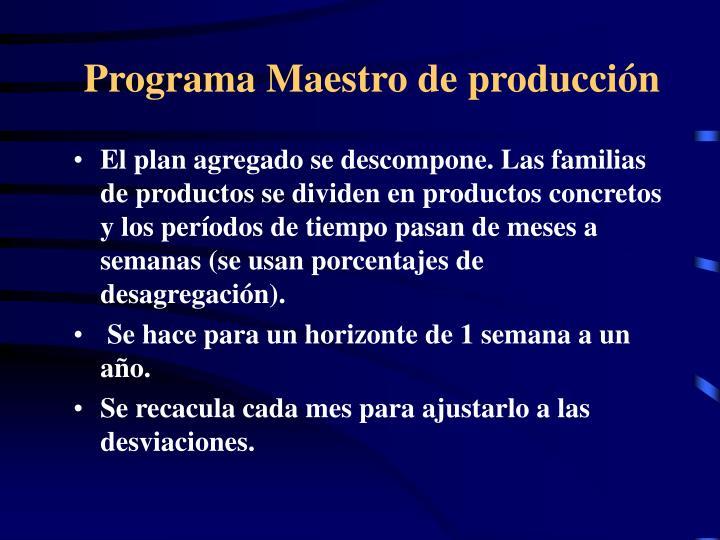 Programa Maestro de producción