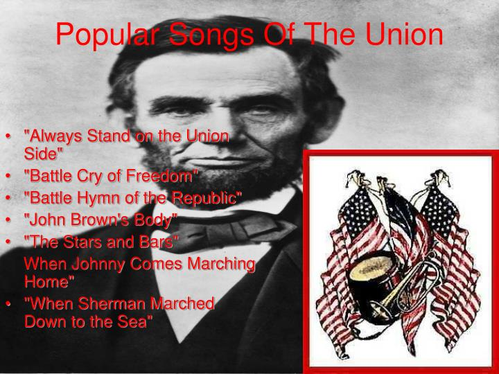 Popular Songs Of The Union