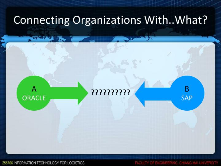 Connecting Organizations With..What?