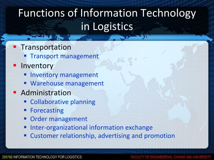 Functions of Information Technology in Logistics