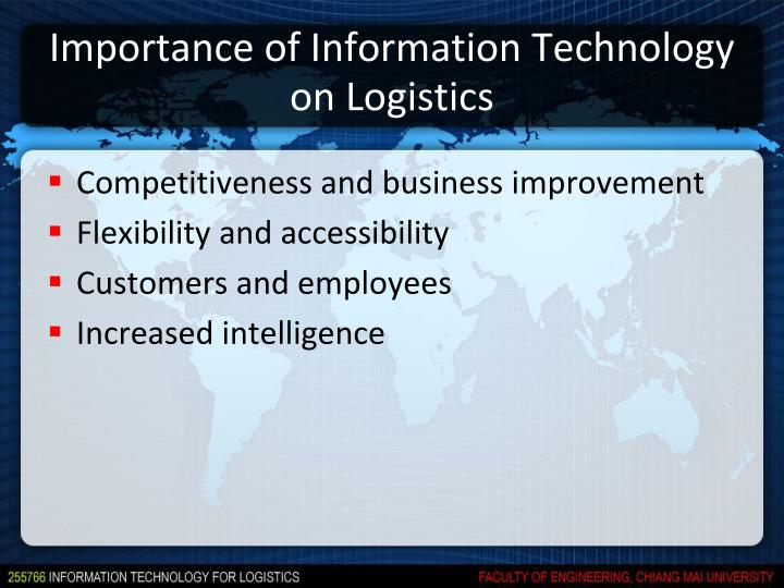 Importance of Information Technology on Logistics