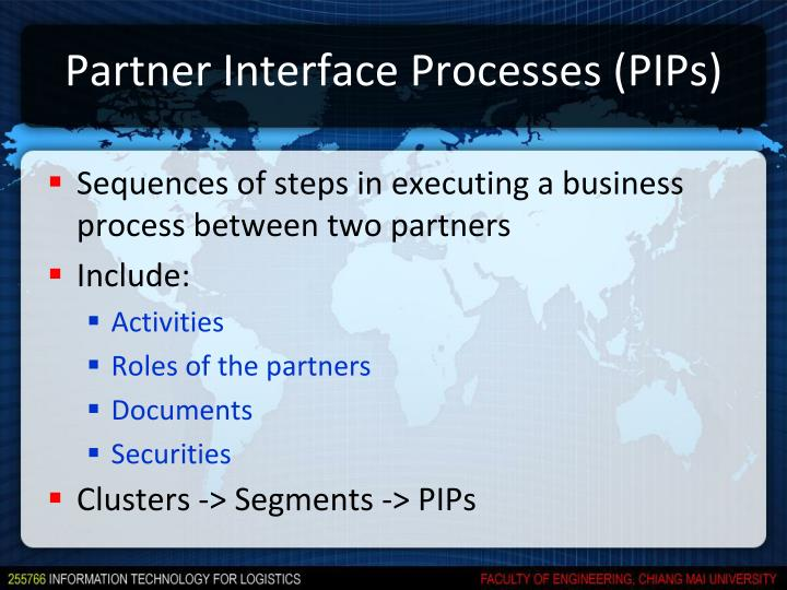 Partner Interface Processes (PIPs)
