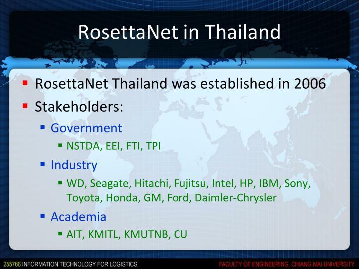 RosettaNet in Thailand