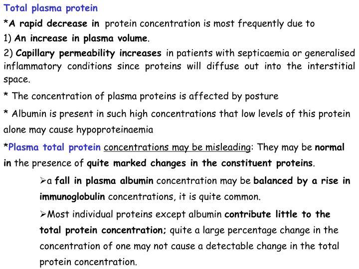Total plasma protein
