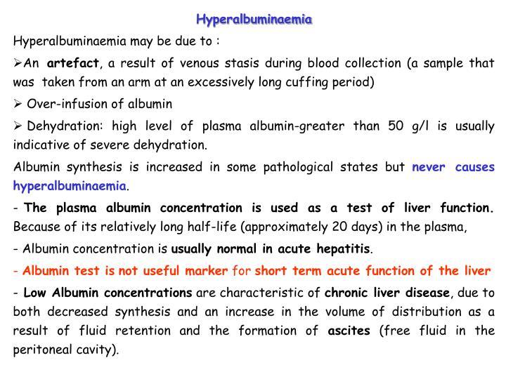 Hyperalbuminaemia