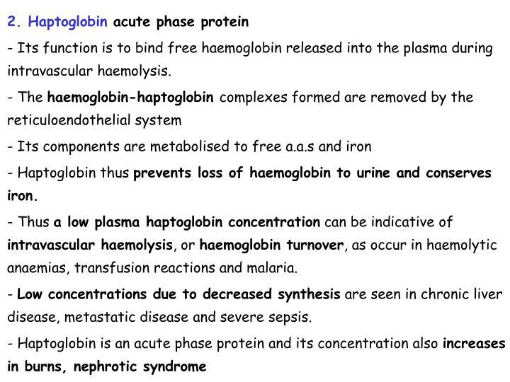 2. Haptoglobin