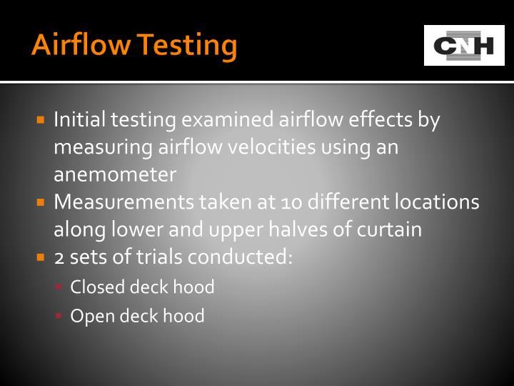 Airflow Testing