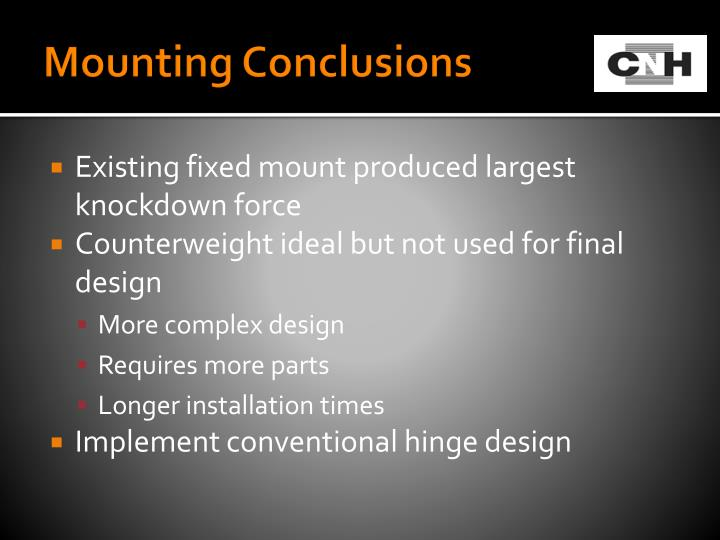 Mounting Conclusions