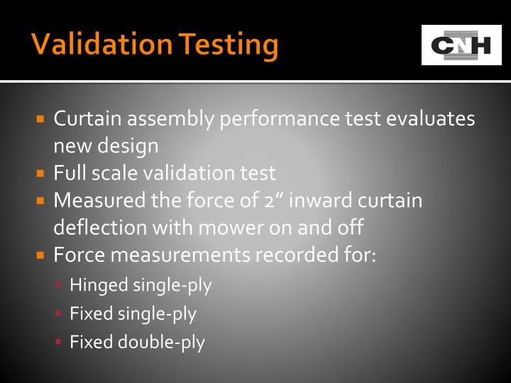 Validation Testing