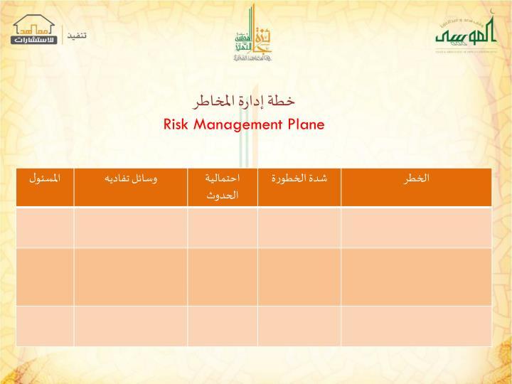خطة إدارة المخاطر