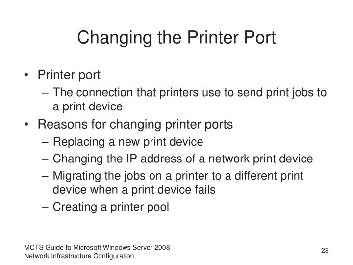 Changing the Printer Port