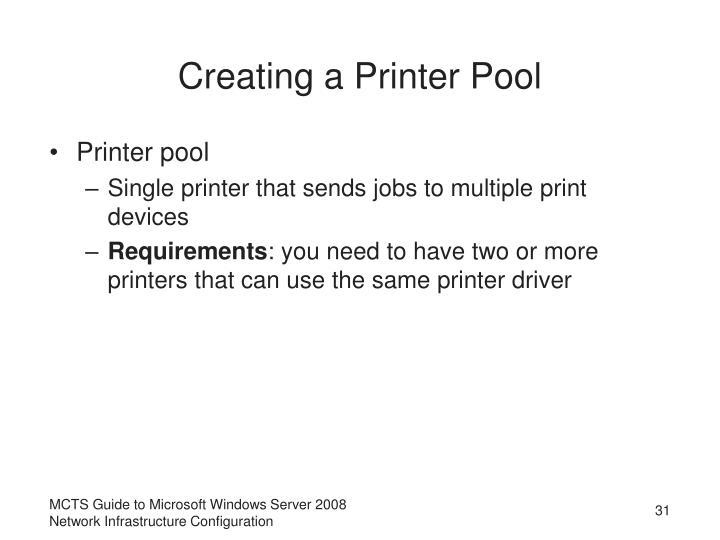 Creating a Printer Pool
