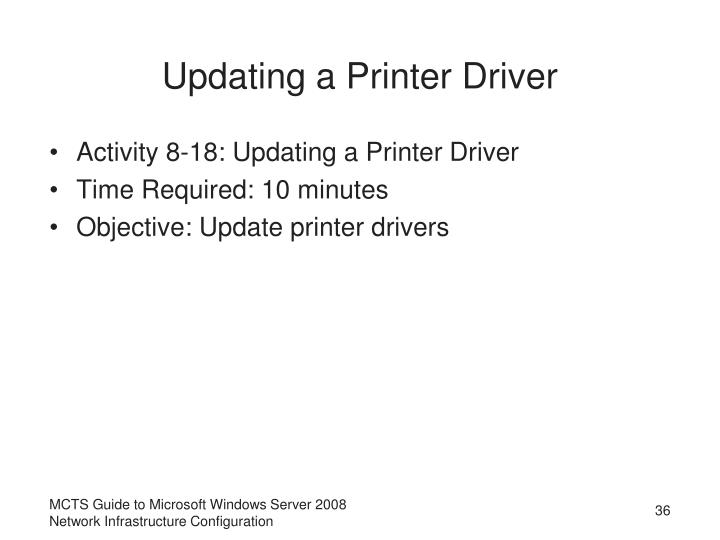Updating a Printer Driver