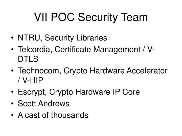 VII POC Security Team
