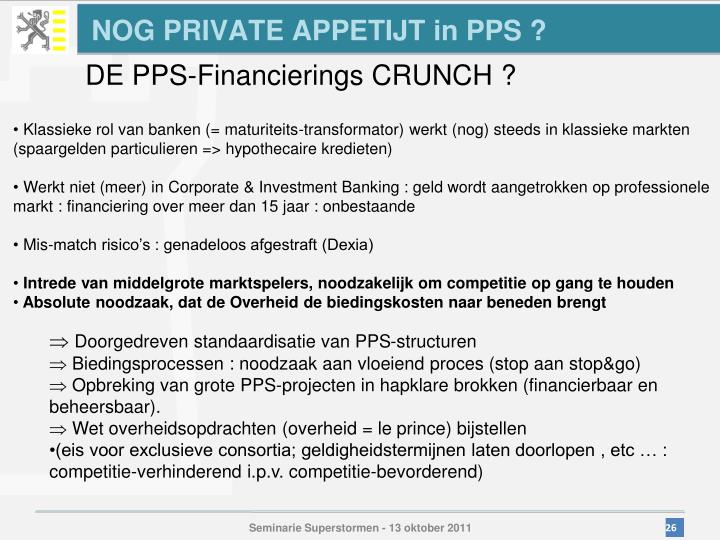 NOG PRIVATE APPETIJT in PPS ?
