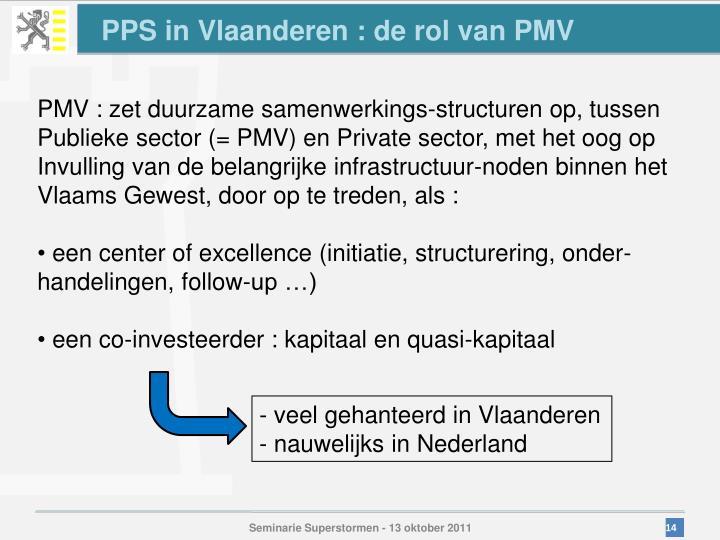 PPS in Vlaanderen : de rol van PMV