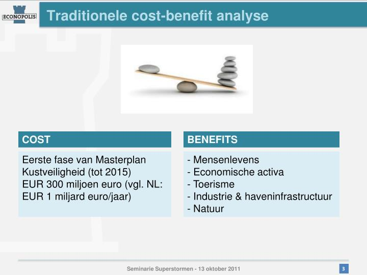Traditionele cost-benefit analyse
