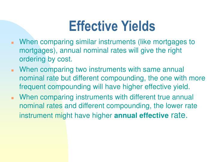 Effective Yields