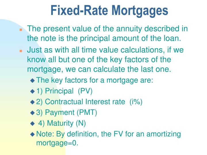 Fixed-Rate Mortgages