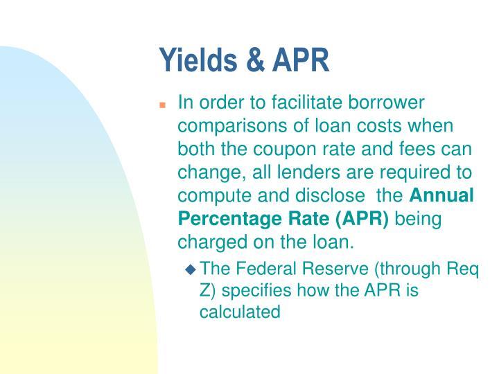 Yields & APR