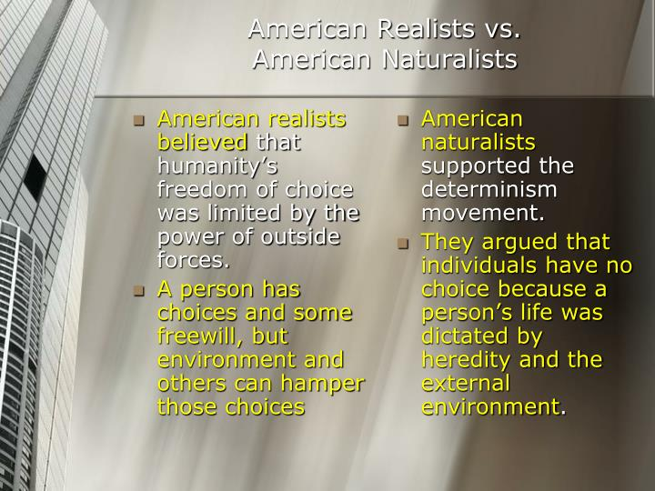 American realists believed