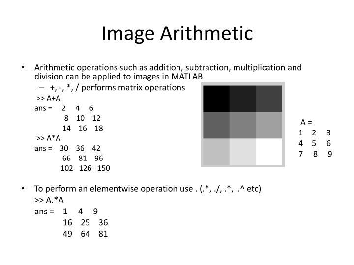 Image Arithmetic