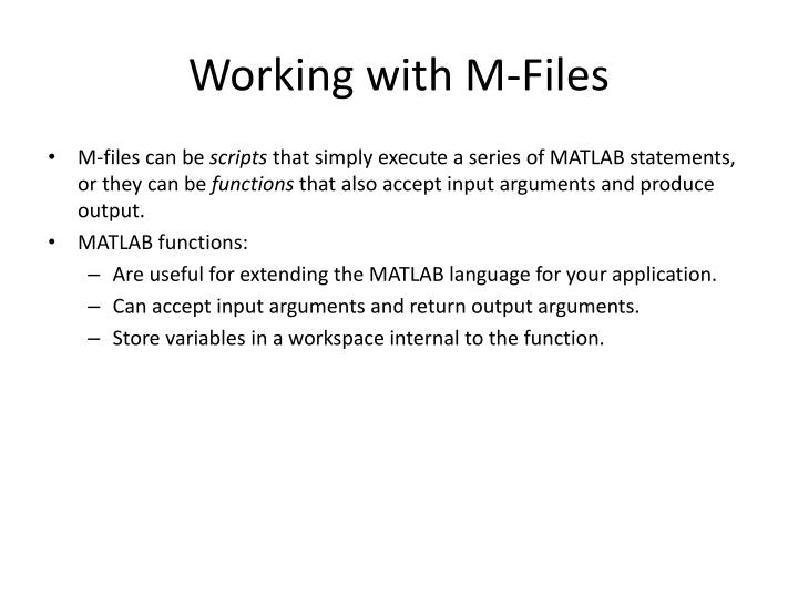 Working with M-Files