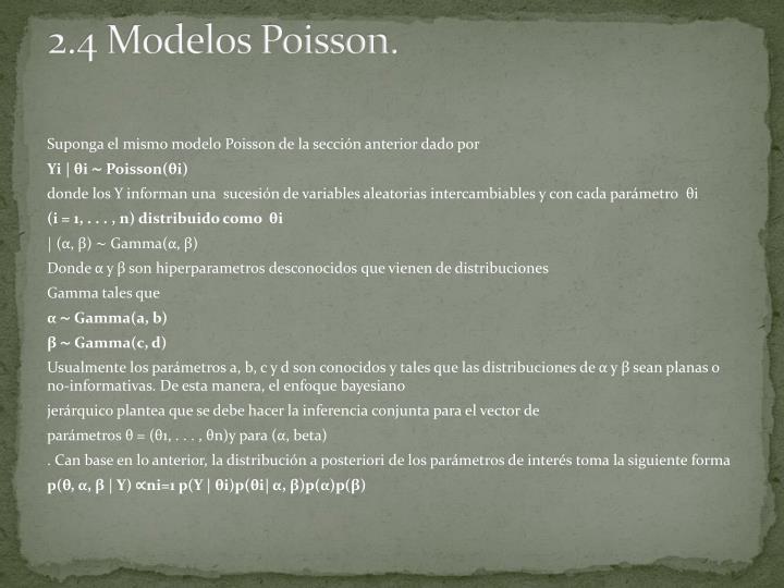 2.4 Modelos Poisson.