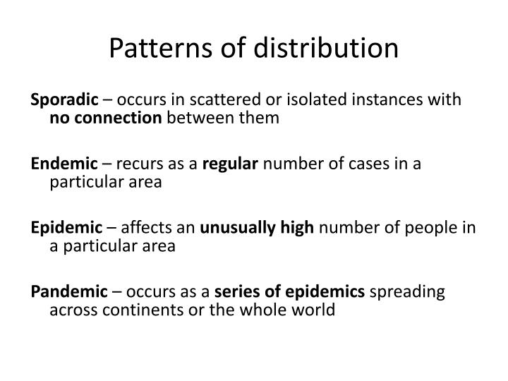 Patterns of distribution