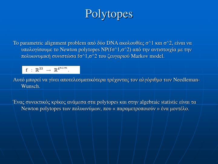 Polytopes