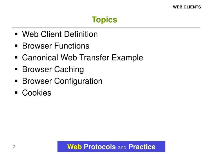 WEB CLIENTS