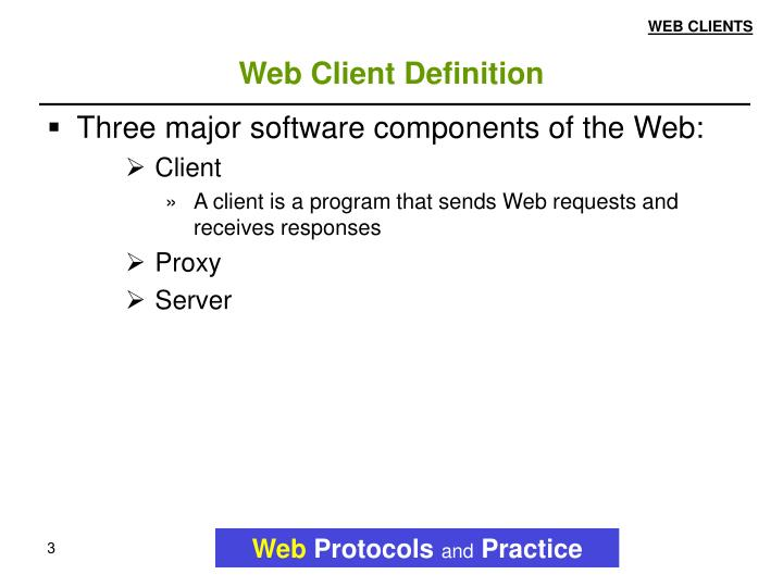 Web client definition