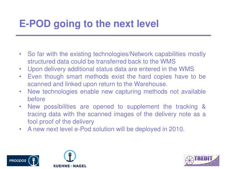 E-POD going to the next level