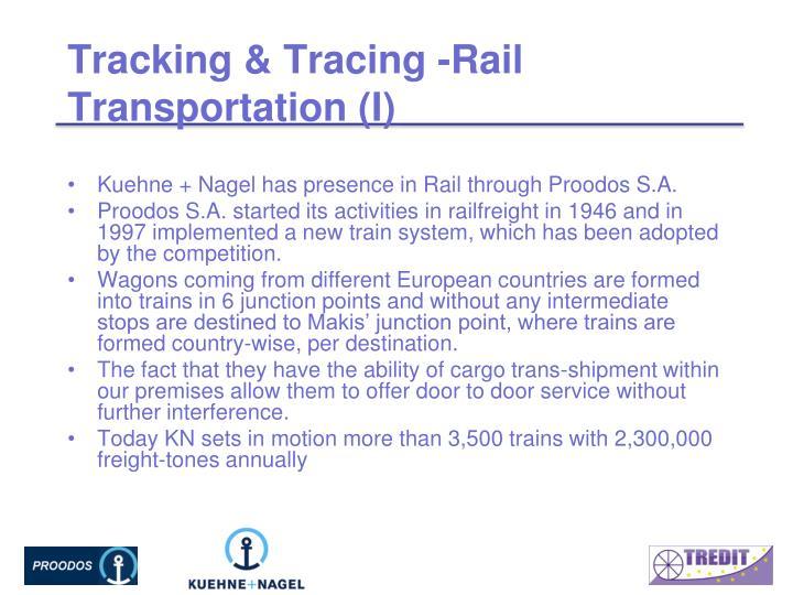 Tracking & Tracing -Rail Transportation (I)