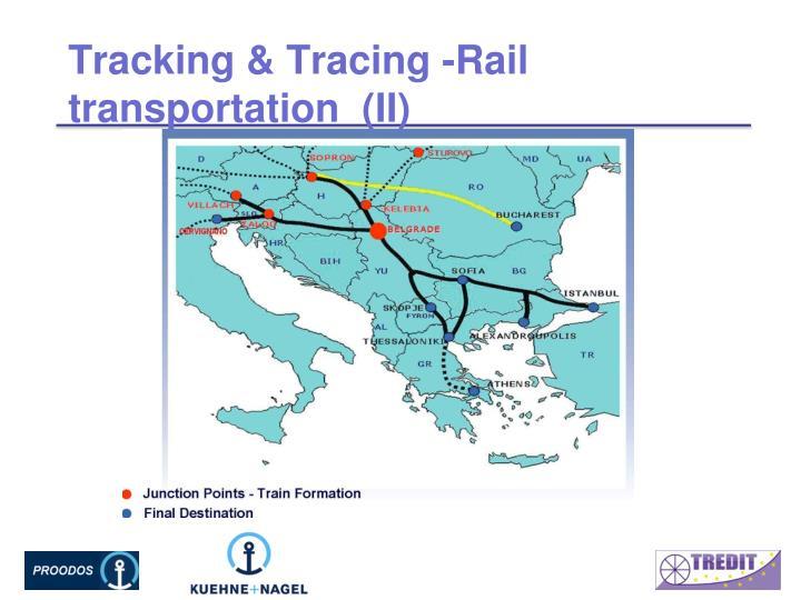 Tracking & Tracing -Rail transportation