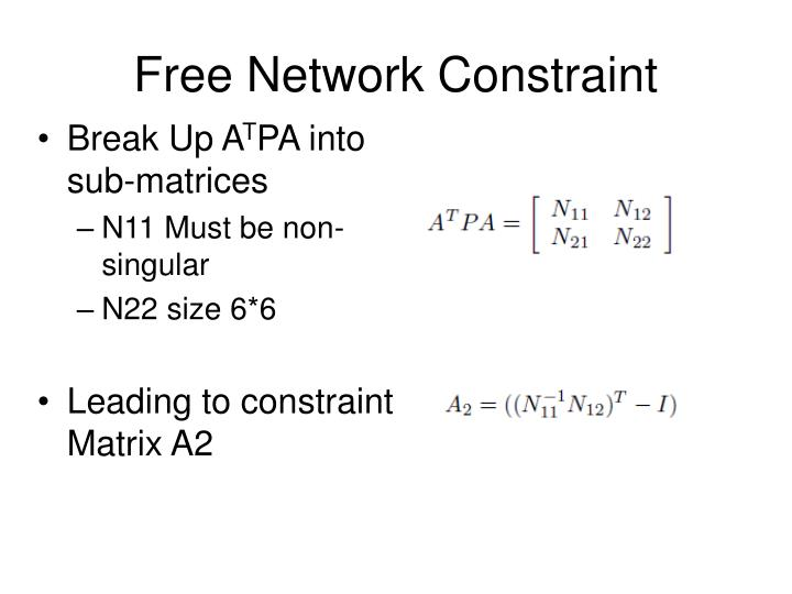 Free Network Constraint