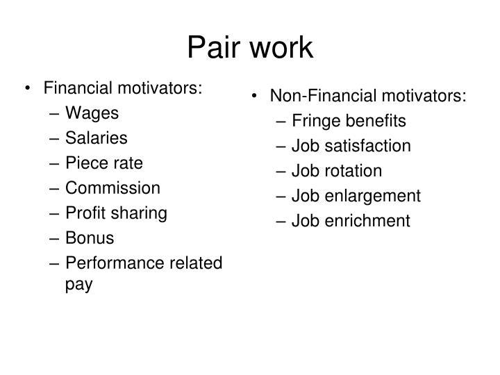Pair work