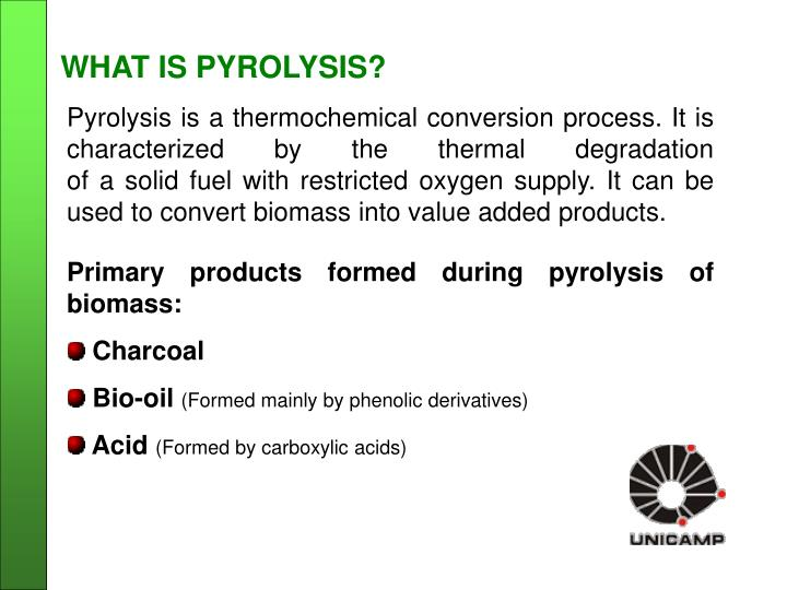 WHAT IS PYROLYSIS?