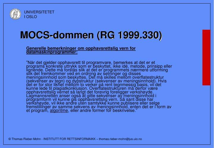 MOCS-dommen (RG 1999.330)