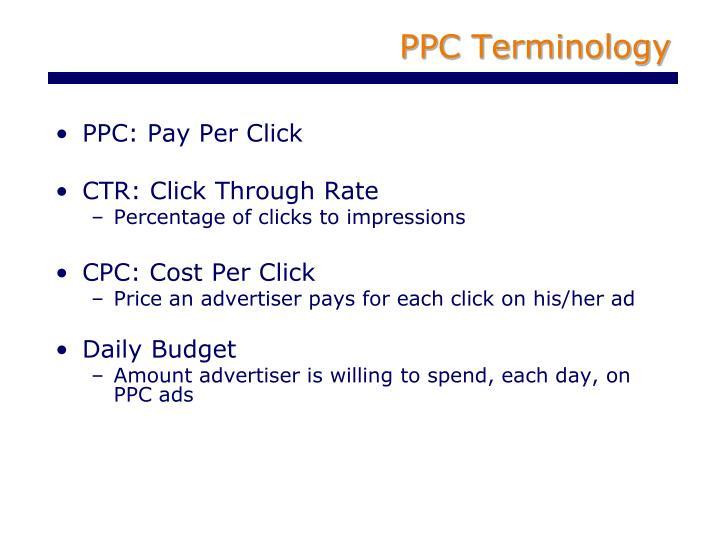PPC Terminology