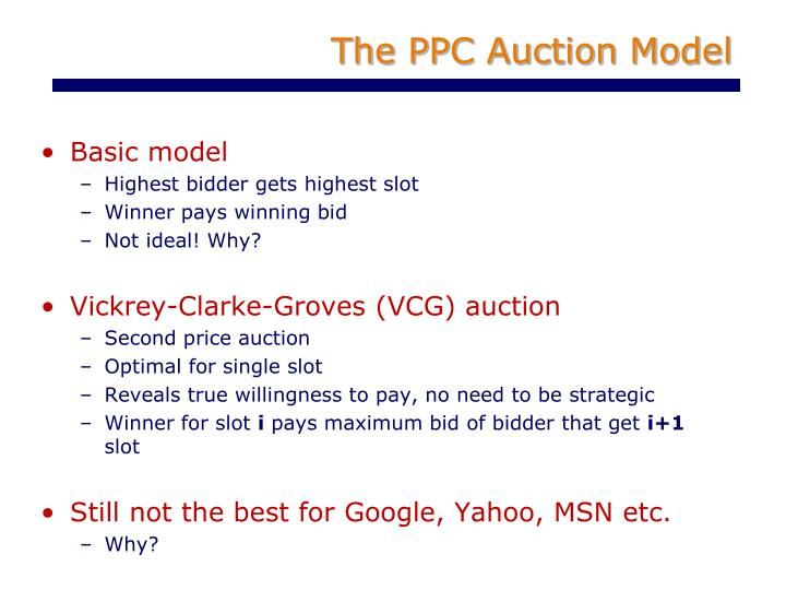 The PPC Auction Model