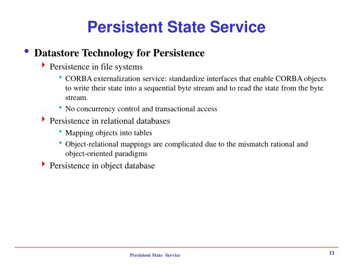 Persistent State Service