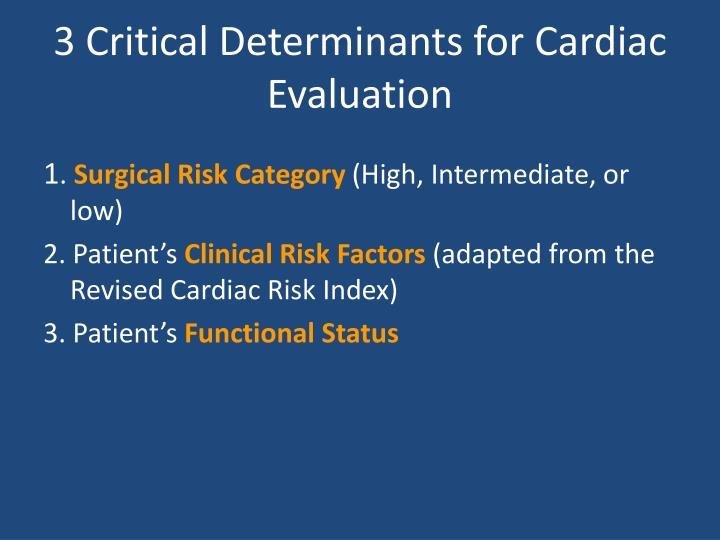 3 Critical Determinants for